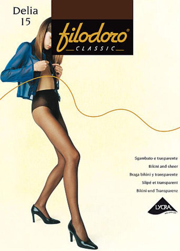 Женские классические колготки DELIA 15 Filodoro