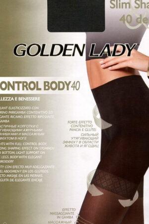 Моделирующие и утягивающие колготки CONTROL BODY 40 Golden Lady
