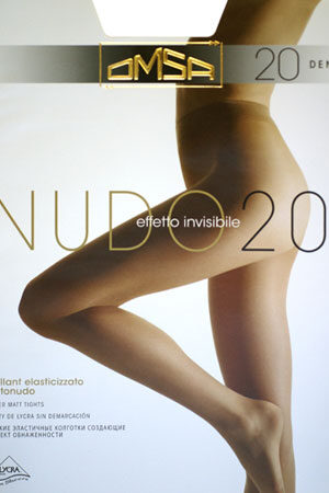 Женские классические колготки NUDO 20 Omsa