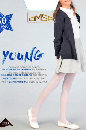 Колготки классические для девочек YOUNG 50 Omsa