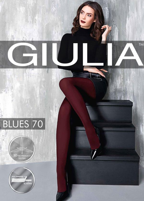 Женские классические колготки BLUES 70 3D Giulia