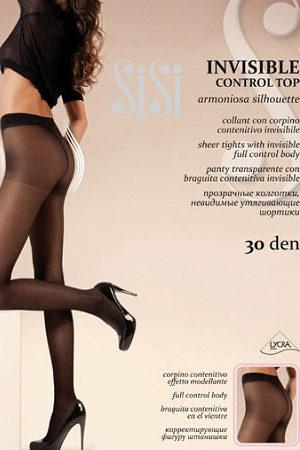 Женские классические колготки INVISIBLE CONTROL TOP 30 SiSi