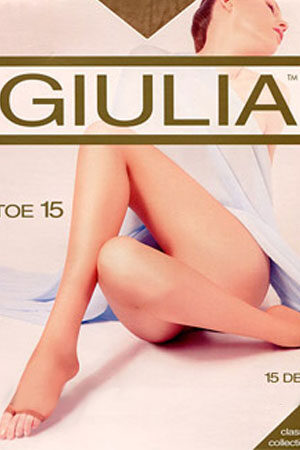 Колготки с открытыми пальцами TOE 15 Giulia