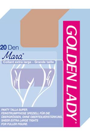 Женские классические колготки MARA 20 XL Golden Lady