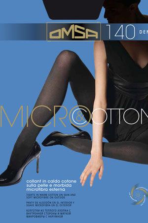 Женские классические колготки MICRO & COTTON XL Omsa