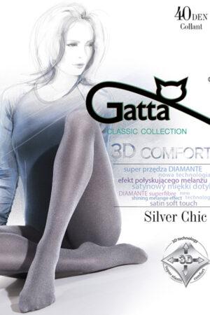 Фантазийные колготки с рисунком SILVER CHIC 40 Gatta