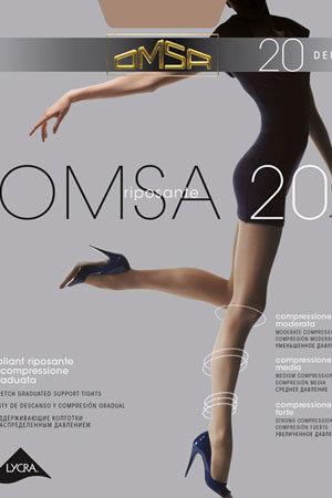 Компрессионные колготки массажные OMSA 20 Omsa
