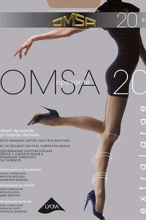 Компрессионные колготки массажные OMSA 20 XL Omsa