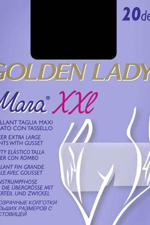 Женские классические колготки MARA 20 XXL Golden Lady