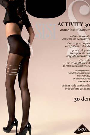 Моделирующие и утягивающие колготки ACTIVITY 30 SiSi