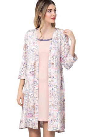 Домашняя одежда 2502 Комплект сорочка пеньюар Reina