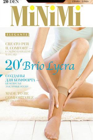 Женские классические носки BRIO 20 lycra (2 п.) носки Minimi