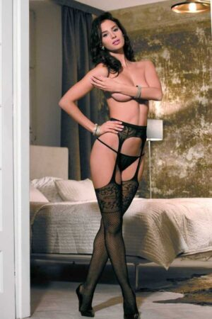 Чулки на поясе Garter stockings C702 Caprice