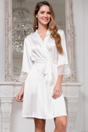 3553 Кимоно Белый лебедь Mia-Amore