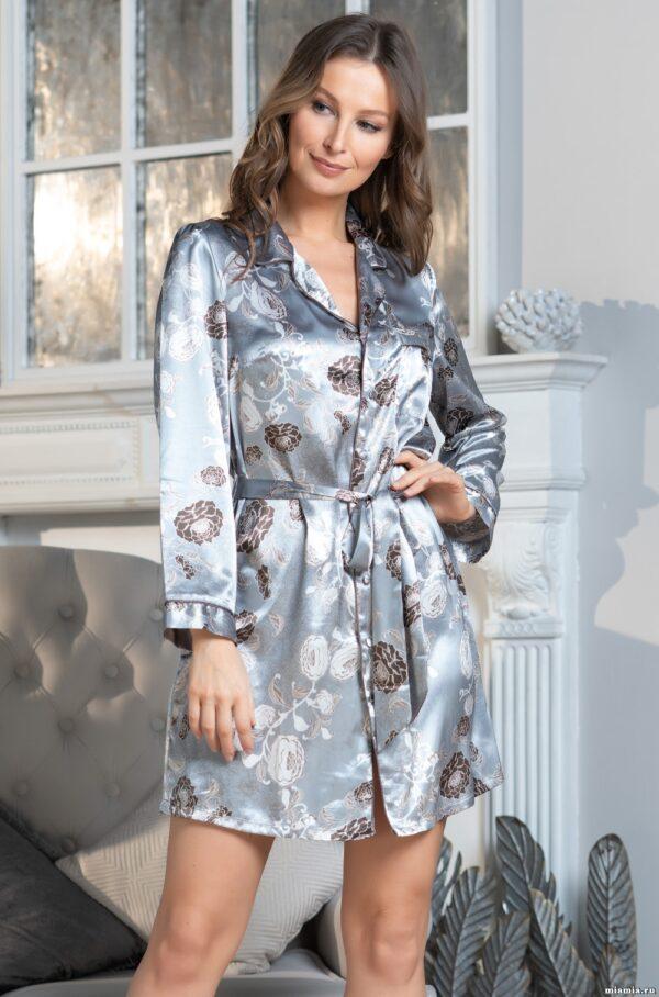 8997 Рубашка Пионы Парижа Mia-Amore