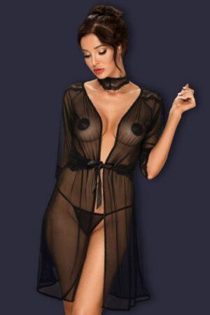 Комплект Lucita пеньюар+чокер Obsessive
